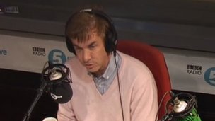 Charlie Mullins in the 5 live studio