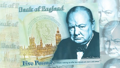 Bank of England Churchill banknote design