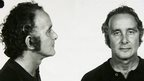 "Police ""mug shots"" of Ronnie Biggs taken after his arrest in Rio in 1974"