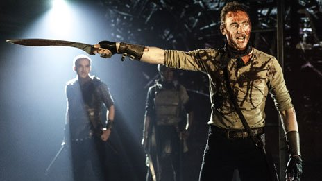 Tom Hiddleston in Coriolanus. Photo by Johan Persson