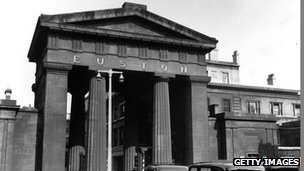 Euston Arch - photographed in 1954