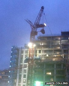 Crane collapse in Ealing