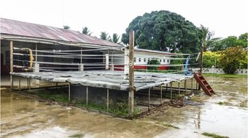 The only permanent boxing ring in Tonga.