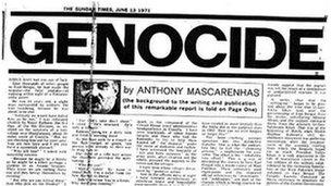 Anthony Mascarenhas' article in the Sunday Times