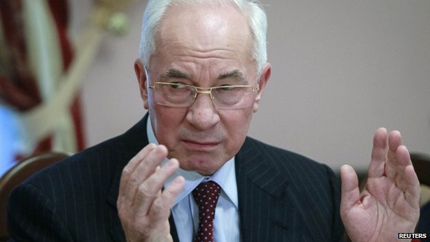 Ukraine's Prime Minister Mykola Azarov