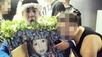 Man in costume depicting photo of Madeleine McCann