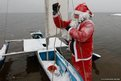A member of the Skipper yacht club dressed as Father Christmas