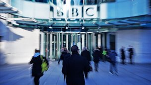 Generic BBC building and staff