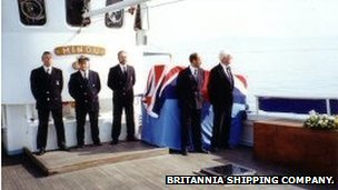 Burial at sea off the Needles, isle of Wight