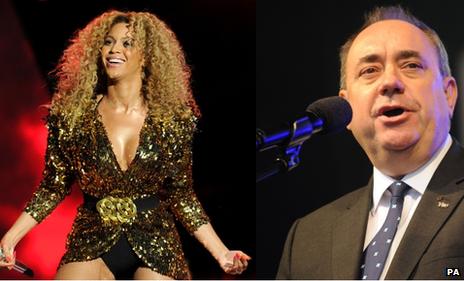 Beyonce and Alex Salmond