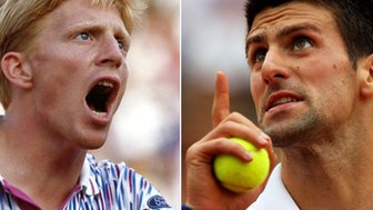 Boris Becker & Novak Djokovic