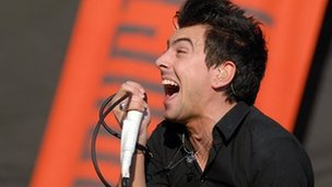 Lostprophets singer Ian Watkins on stage in 2007