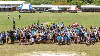 Around 10% of the entire population of Niue took part in the Queen's Baton Relay Sports Day earlier this week