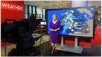 Carol Kirkwood presenting a BBC weather forecast
