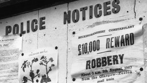 Great train robbery wanted poster