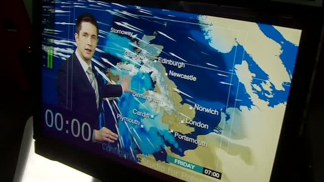 Chris Fawkes takes a look inside the BBC's weather studios