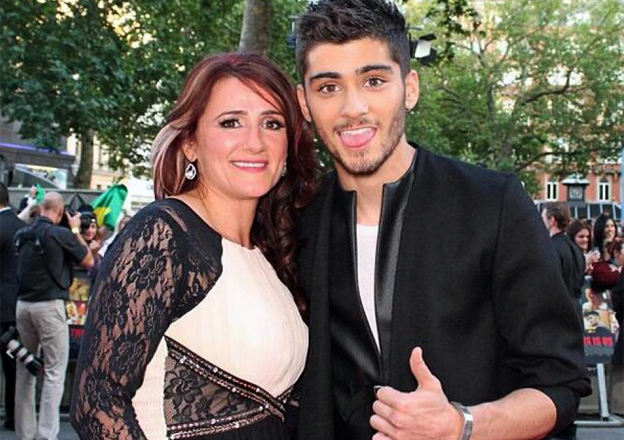 Trisha Malik with her son Zayn at the premiere of One Direction's film This Is Us