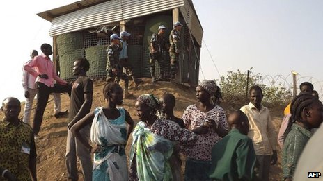 UNMISS camp in Juba, 18 Dec