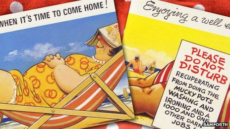 Seaside postcards published by Bamforth
