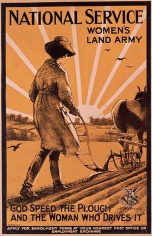 A recruitment poster for the Women's Land Army
