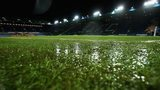 Waterlogged pitch at Hillsborough