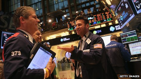 Happy traders on NYSE