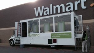 Humana truck in Corinth, Mississippi