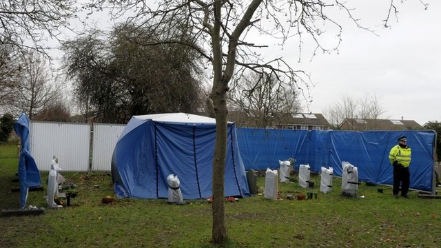 Police tent in the Great Western Cemetery