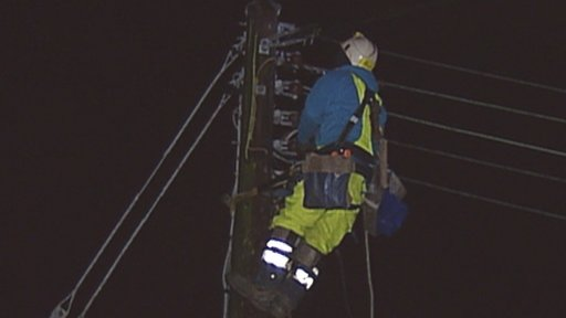 NIE engineers worked throughout the night to fix power cuts