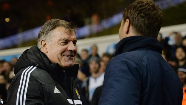 Sam Allardyce relieved after West Ham beat Tottenham