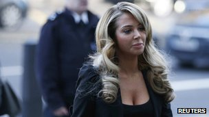 Tulisa Contostavlos arrives at court