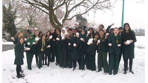 BBC News School Reporters in the snow