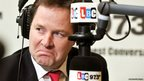 The Deputy Prime Minister Nick Clegg listens to a question from a listener, during an LBC radio phone-in programme with host Nick Ferrari, at the station's studios in central London.