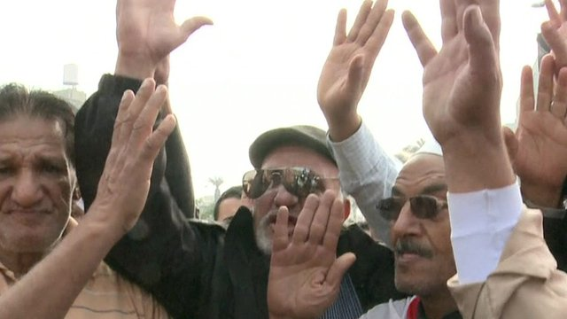 Supporters of Gen Abdul Fattah al-Sisi