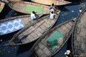 Bangladeshi boatmen during a blockade