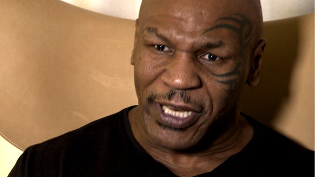 Mike Tyson talks to BBC Sport's Mike Costello