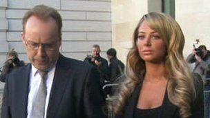 Tulisa Contostavlos and her lawyer Ross Dixon