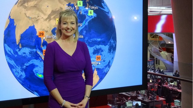 BBC Weather presenter Carol Kirkwood explains how weather can sometimes become the main news story
