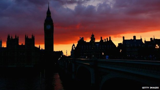 Houses of Parliament at sunset