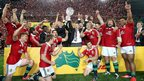 British and Irish Lions celebrate