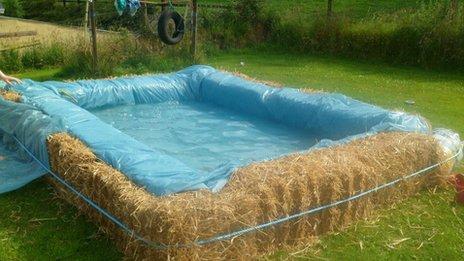 Hay pool
