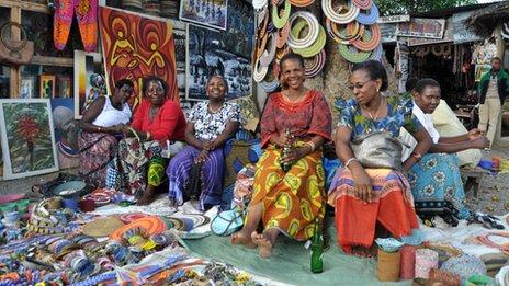 Souvenir sellers, Tanzania