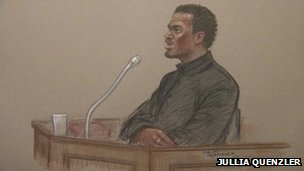 Michael Adebolajo court sketch