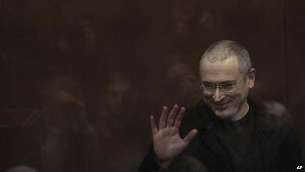 Mikhail Khodorkovsky in court in Moscow, 5 April 2010