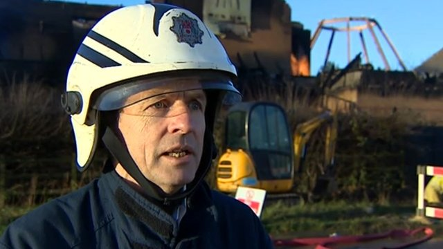 Ian O'Donovan, of Northamptonshire Fire and Rescue Service
