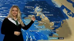 School Reporters from Wales present the weather live on News Day
