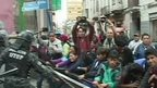 Child protesters and police clash in La Paz
