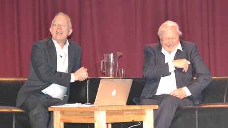 Mike Gunton and David Attenborough