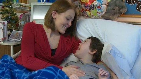 Jo Hudgell with son Alex