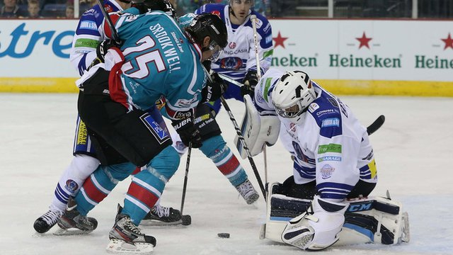 Cody Brookwell in action against Coventry Blaze